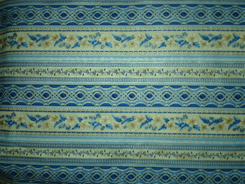 HOLIDAY FLOURISH 10 STRIPE - BLUE - BY ROBERT KAUFMAN
