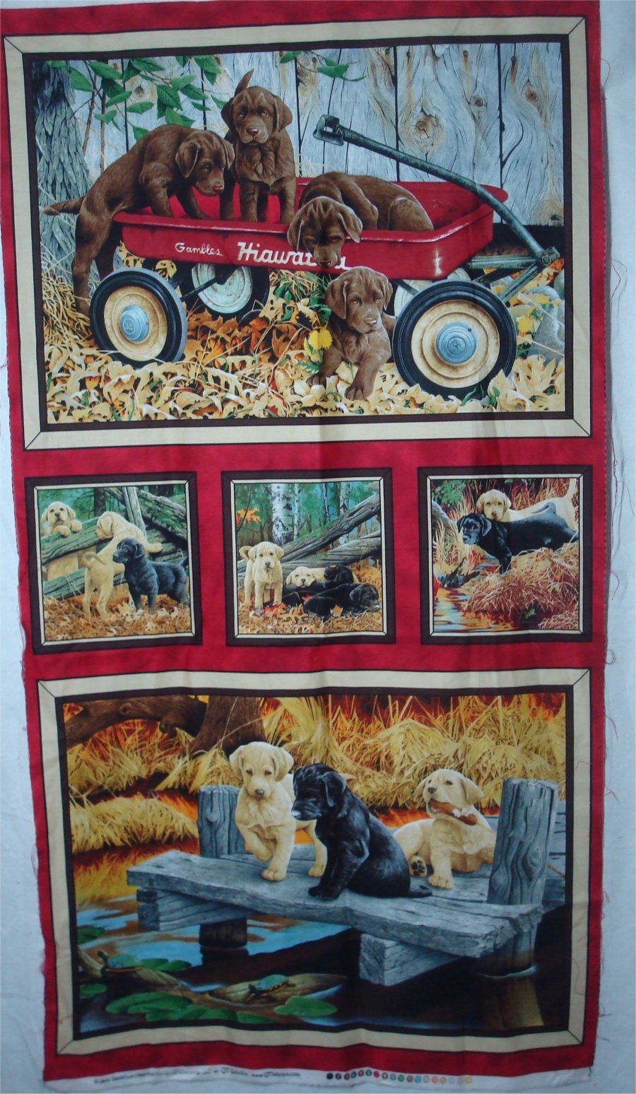 LABRADORS PANEL BY QUILTING TREASURES
