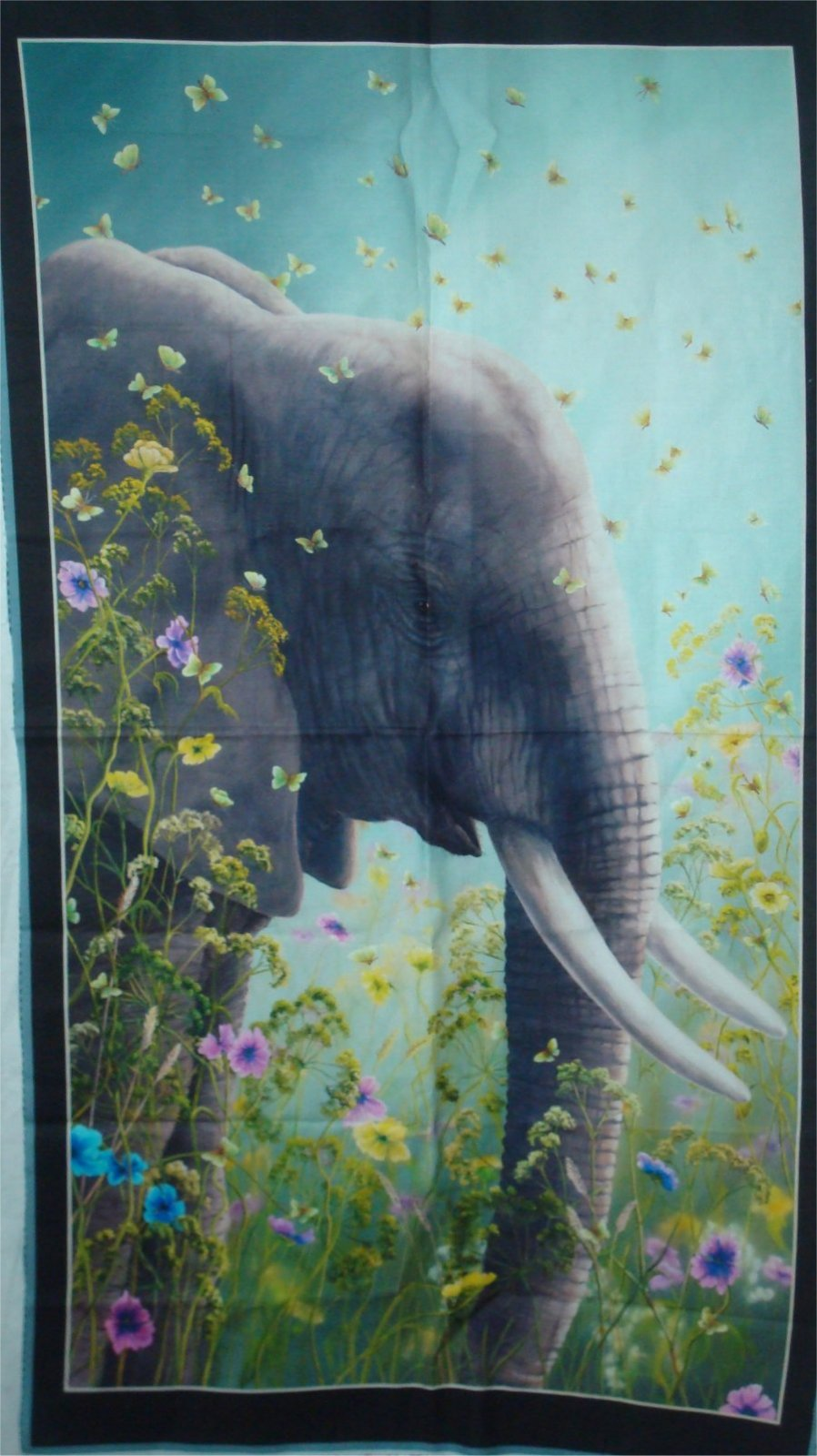 ARTWORKS XII ELEPHANT PANEL BU QUILTING tREASURES