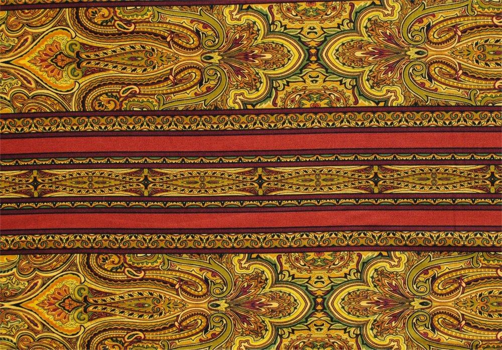 Renaissance Garden stripe by Jinny Beyer from RJR fabrics - Rust