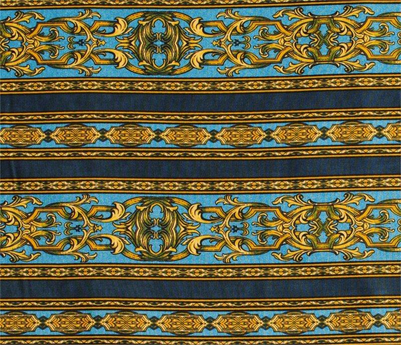 ASHFORD STRIPE BLUE-GOLD BY JINNY BEYER AND RJR FABRICS