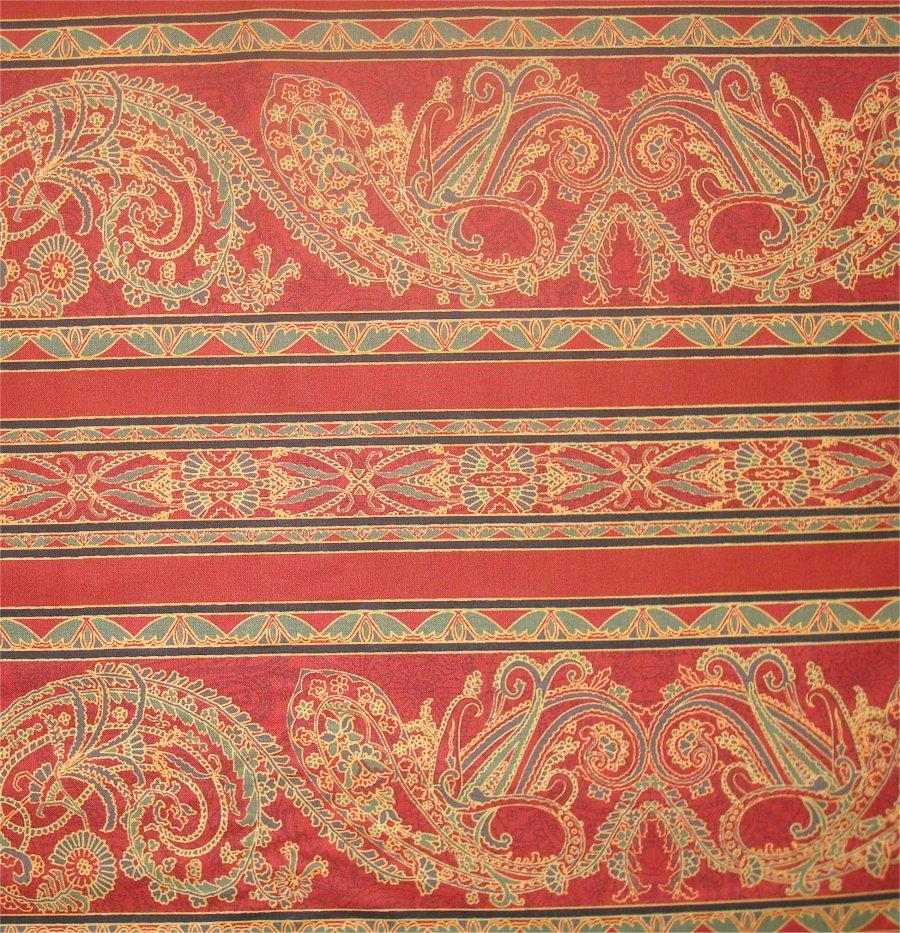 DELHI STRIPE BY JINNY BEYER- RED GOLD