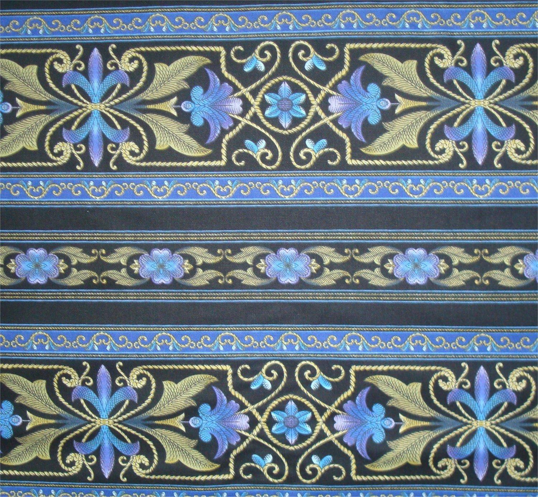 BORDER BASICS- BLUE BY JINNY BEYER AND RJR FABRICS