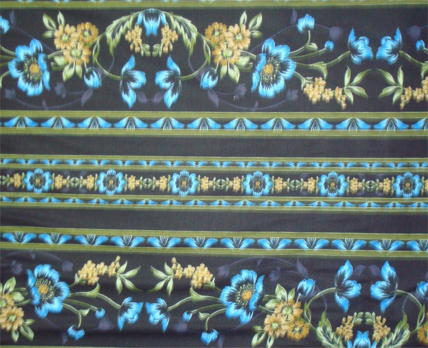 MIDNIGHT GARDEN - TEAL- BY JINNY BEYER AND RJR FABRICS