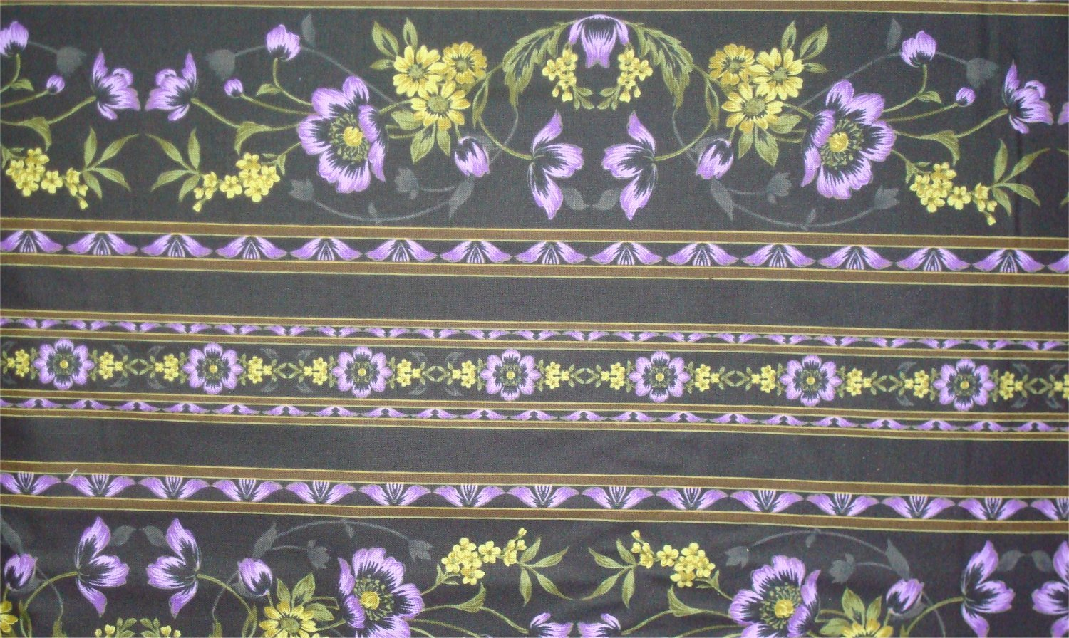 MIDNIGHT GARDEN - PURPLE- BY JINNY BEYER AND RJR FABRICS