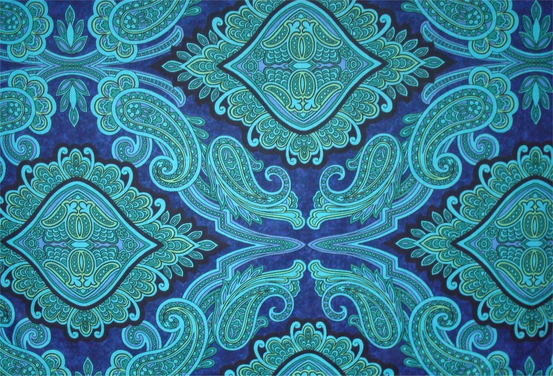 ARUBA PRINT - BLUE BY JINNY BEYER AND RJR FABRIC
