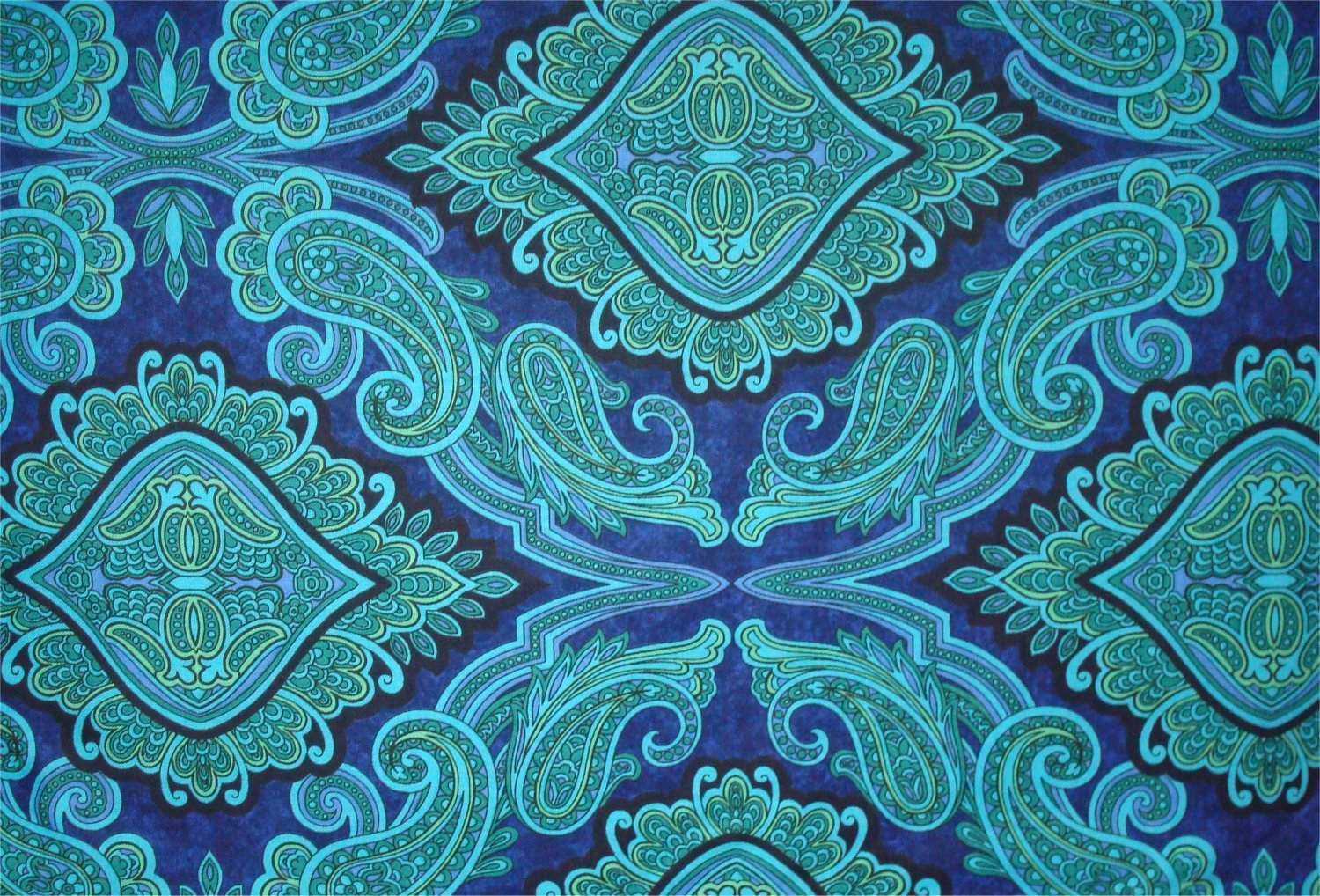 ARUBA PRINT - BLUE BY JINNY BEYER AND RJR FABRIC