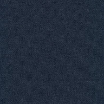 Trainers French Terry Fleece by Robert Kaufman -  Navy