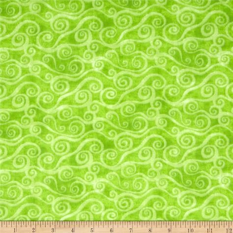108 Scroll Lime by Wilmington Fabrics