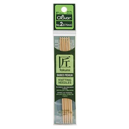 Clover - Takumi Bamboo 5 Double Pointed Knitting Needle Set