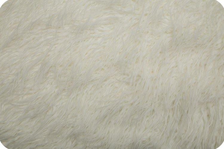 Shannon Fabrics - Curly Mongolian Fur White