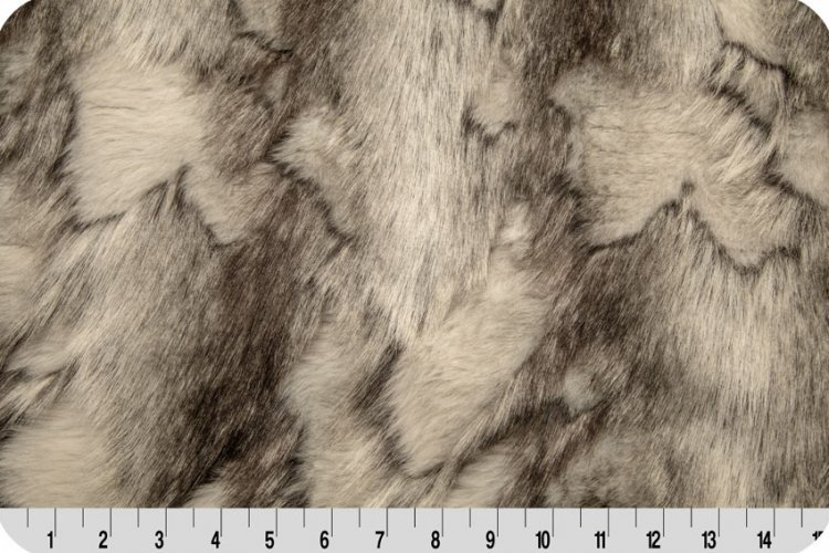 Shannon Fabrics - Brandy Fox Fur - Silver