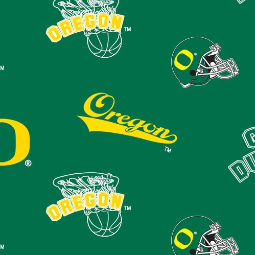 University of Oregon Allover Fleece