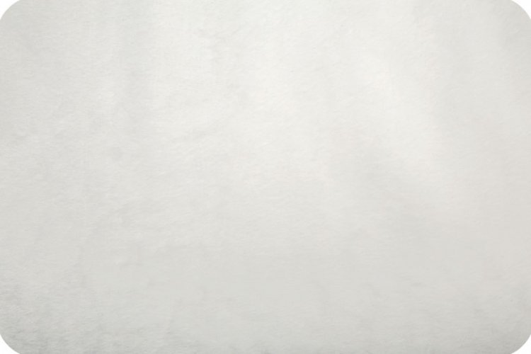 Shannon Fabrics - Beaver Fur - White