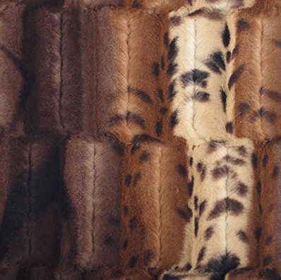 Shannon Fabrics - Luxe Cuddle - Fancy Leopard (Brown/Gold)