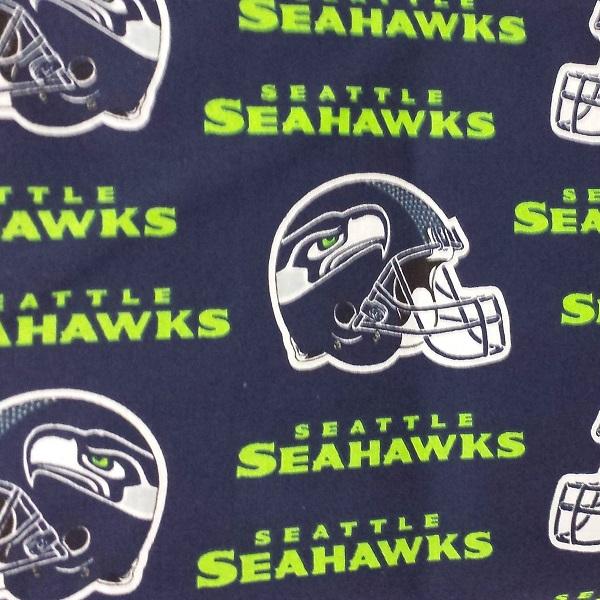 Seattle Seahawks Football Cotton Blue