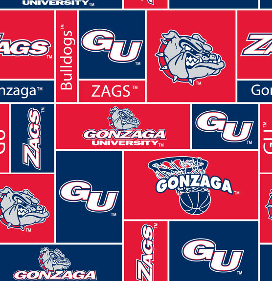 Gonzaga Fleece Print Red/Blue
