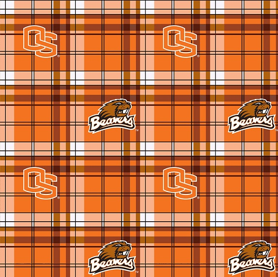 Oregon State Plaid Fleece