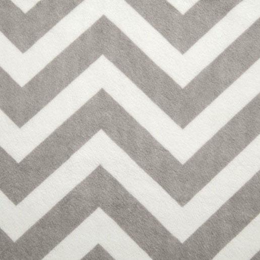 Shannon Fabrics - Chevron Cuddle Silver/White