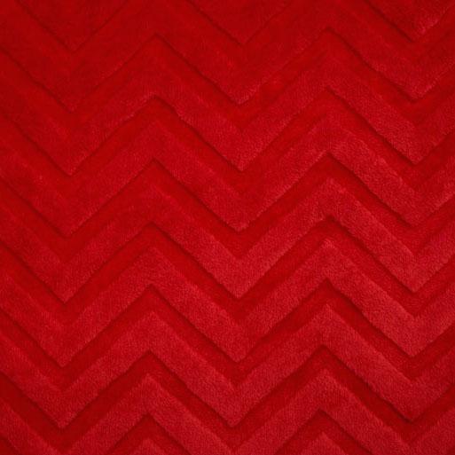 Shannon Fabrics - Chevron Embossed Cuddle Red