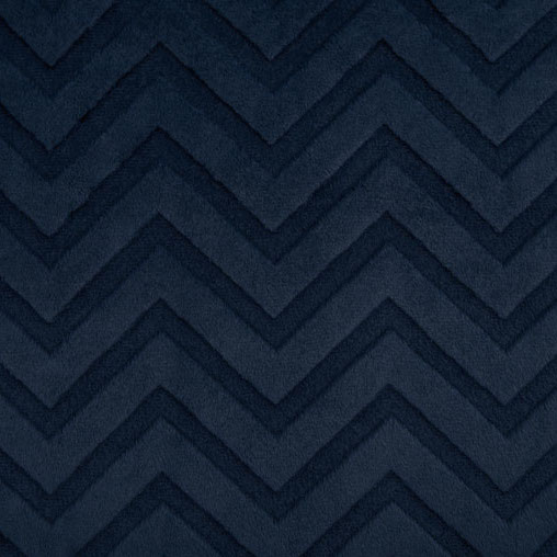 Shannon Fabrics - Chevron Embossed Cuddle Navy