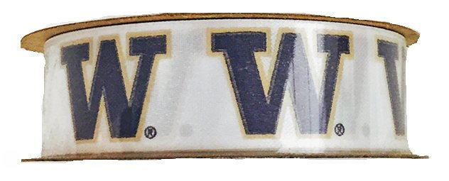 University Of Washington W Ribbon 7/8 Wide 9 ft. White/Purple
