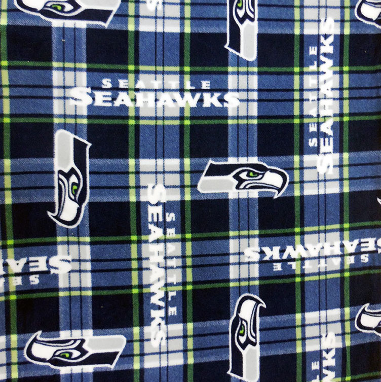 Seahawks Fleece Plaid Blue/Green