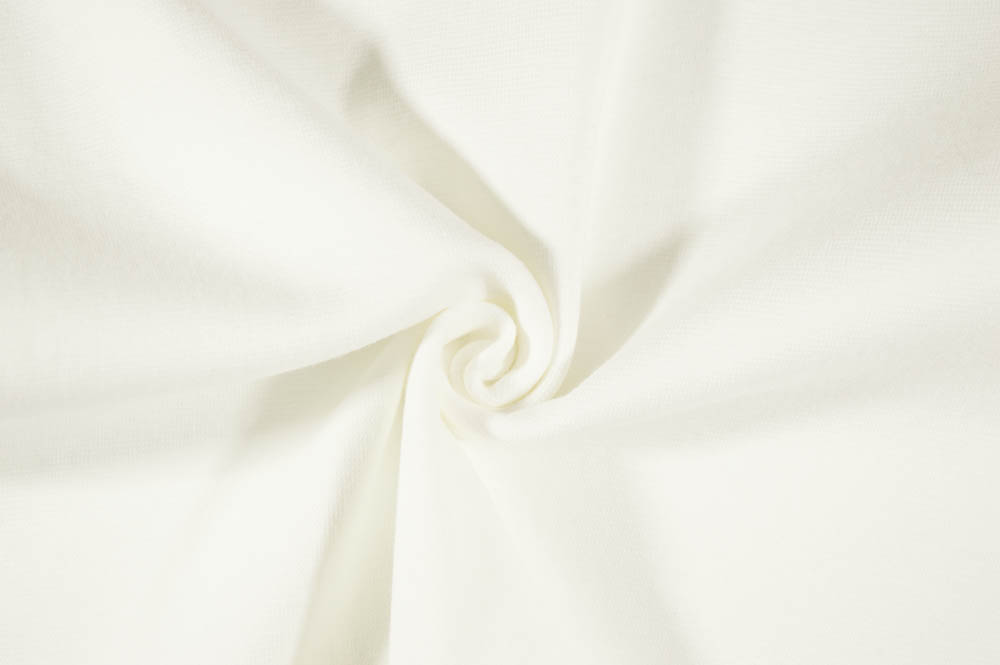 Stretch Lycra Ribbing - White