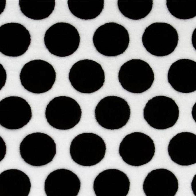 Shannon Fabrics - Cuddle Mod Dot - Black/Snow