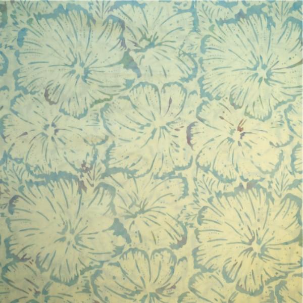 Batik Pastel Floral Silver Aqua