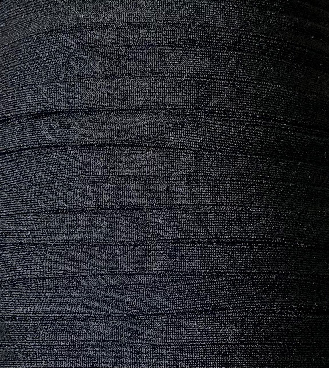 1/4 inch Plush Elastic BLACK - 10 yards