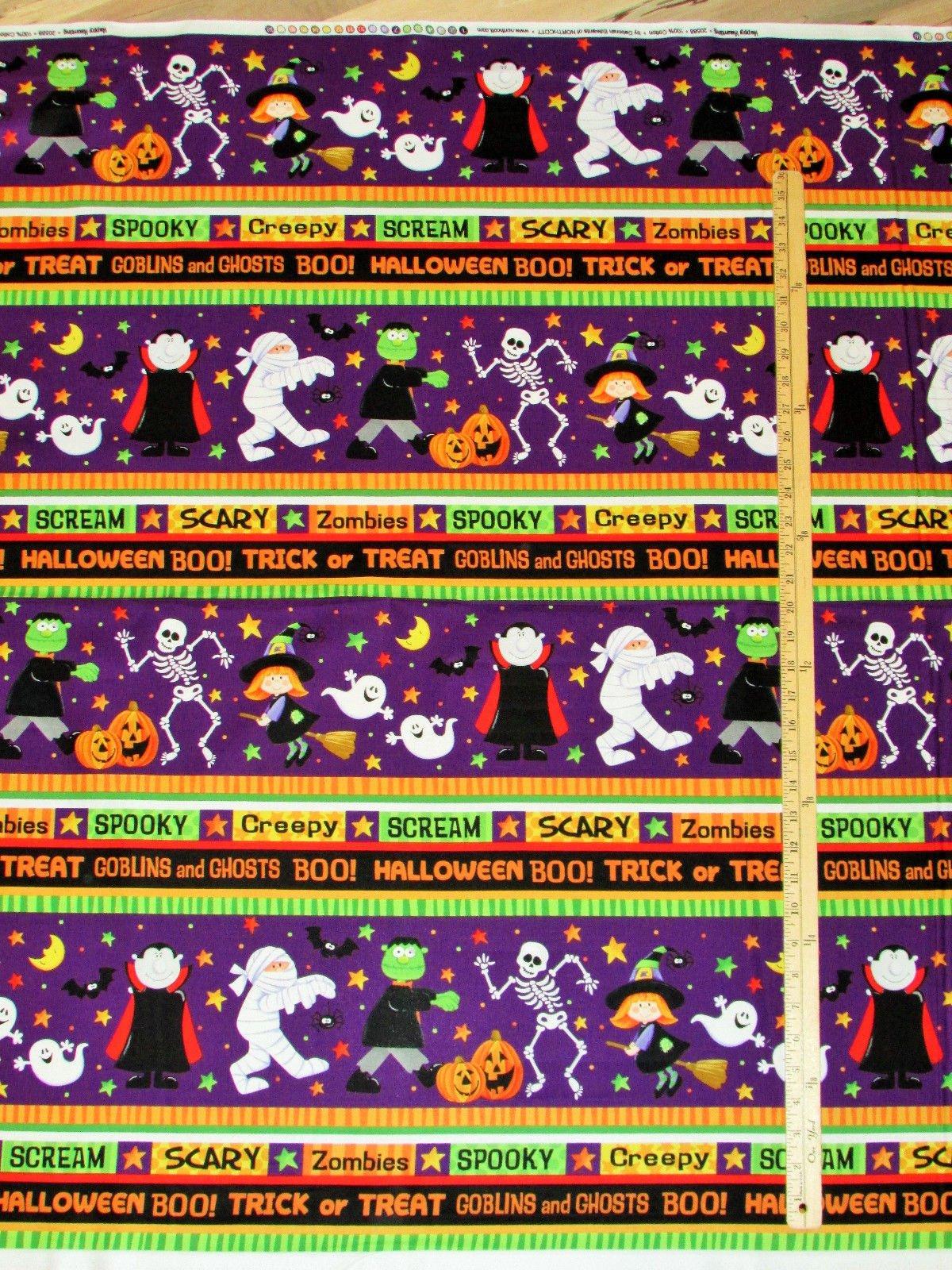 Northcott - Halloween - Happy Haunting Border