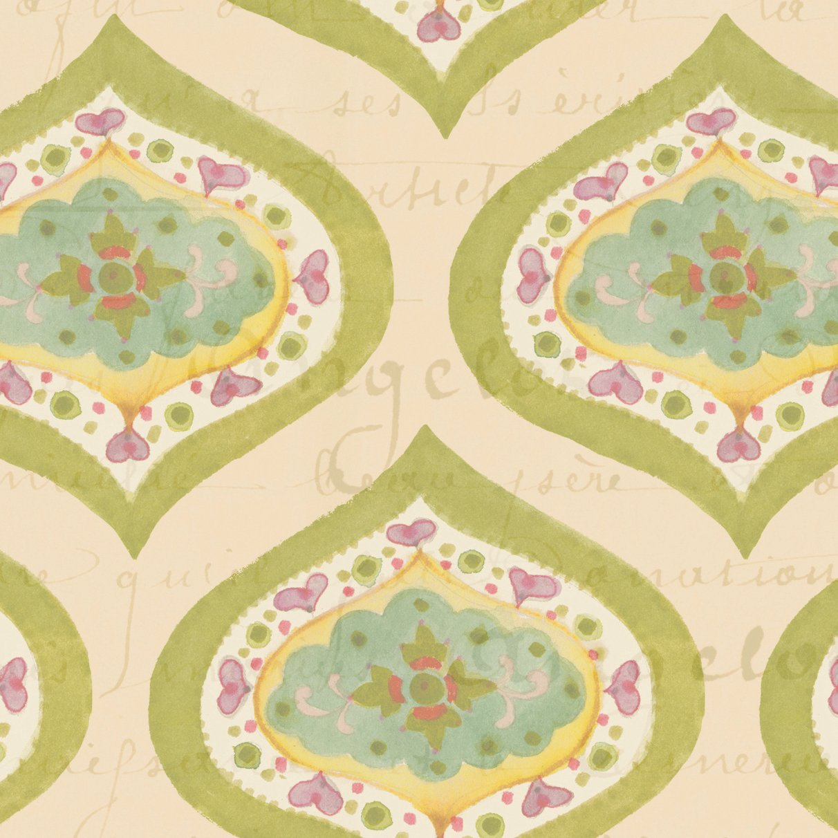 Clothworks - Bohemian Chic - Medallion  Citron