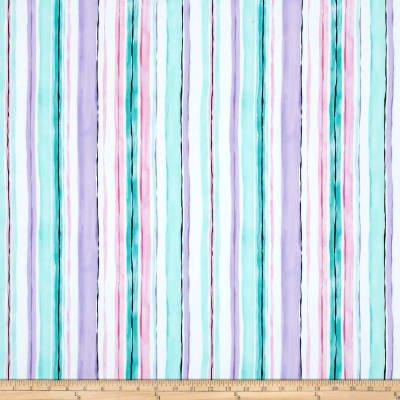 Michael Miller -  Spring Fling - Stripe Lavender