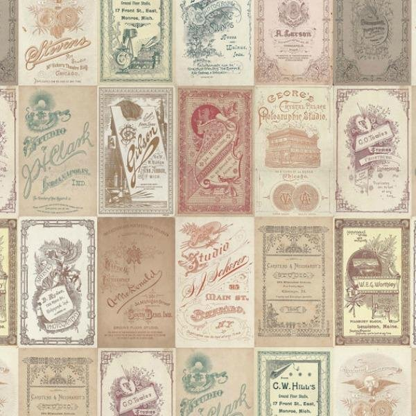 Tim Holtz - Eclectic Elements - Vintage Photo Card in Multi