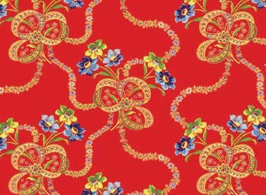 Red Rooster Fabric - Summer Cottage - 4507-25179-RED1