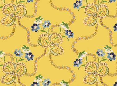 Red Rooster Fabric - Summer Cottage - 4507-25179-YEL1