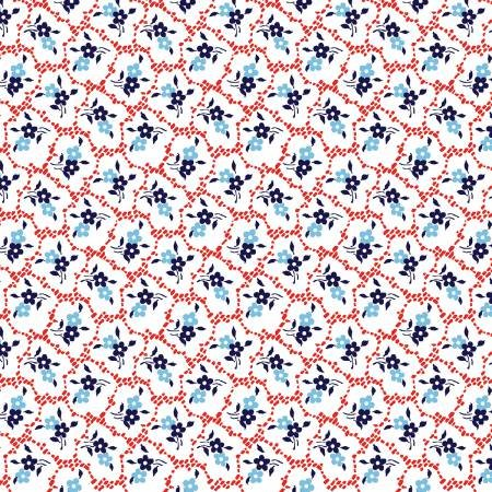 Red Rooster Fabric - Summer Cottage - 4507-25184-RED1