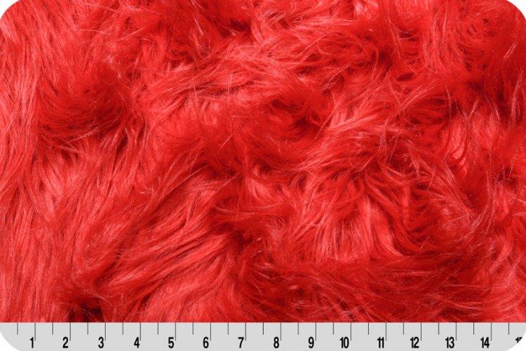 Shannon Fabrics - Gorilla Fur - Fire Red