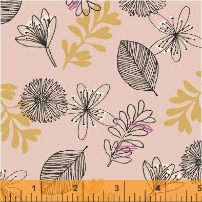 Windham Fabrics - Whisper - Leaves Blush