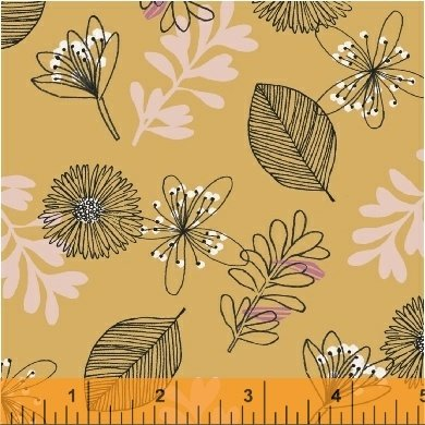 Windham Fabrics - Whisper - Leaves Butterscotch
