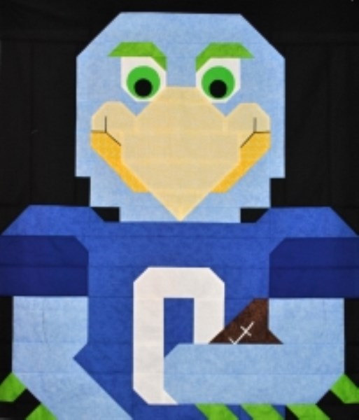 Pattern - Counted Quilts - Football Bird Quilt