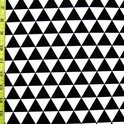 Spandex House - Triangles - black/white
