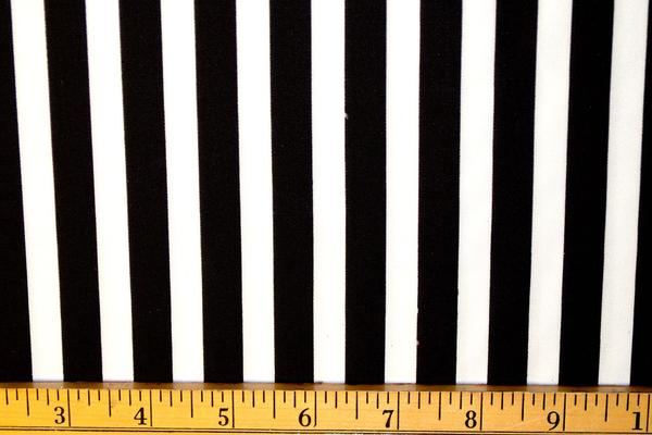 Spandex House - Stripes - .5 black/white