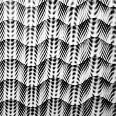 Spandex House - Wave - White / Black