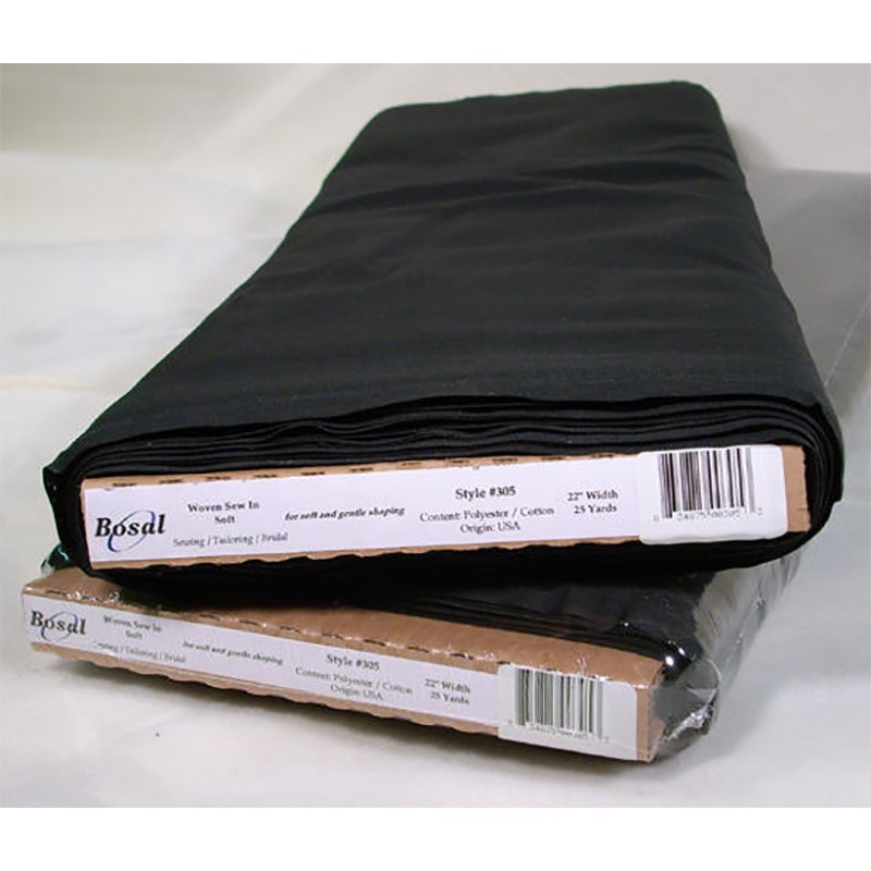 Interfacing - Sew In Interfacing Soft (Black)
