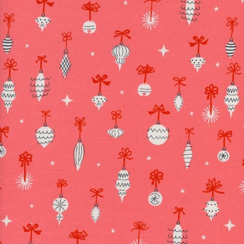 Cotton + Steel Garland Ornamentals Pink