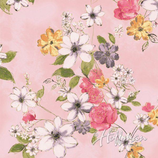 Hoffman Fabrics - Paint Petals - P7564-391G