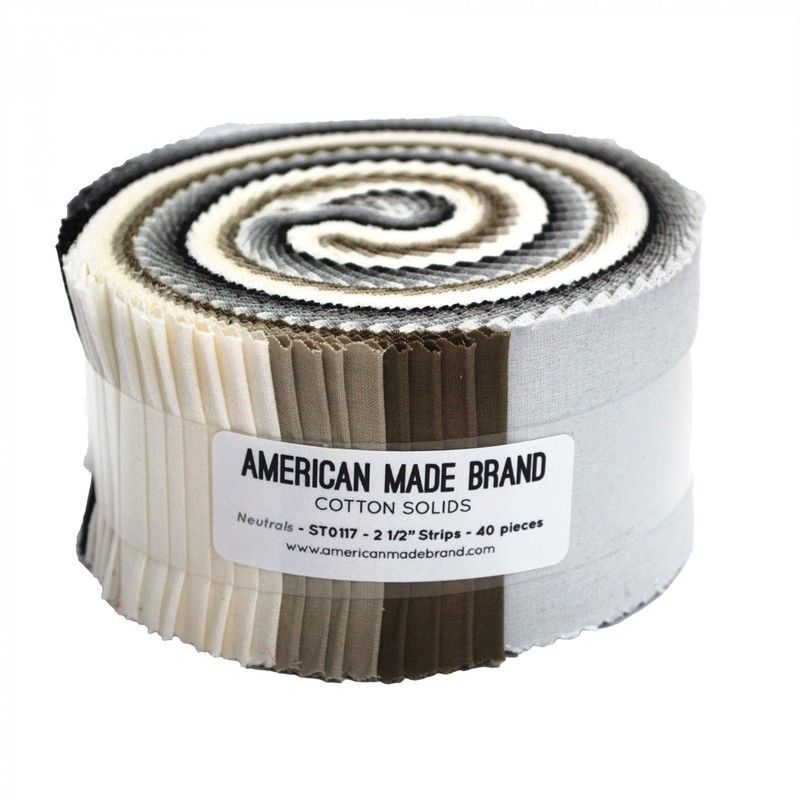 American Made - Jelly Roll - Neutral Cotton Solids