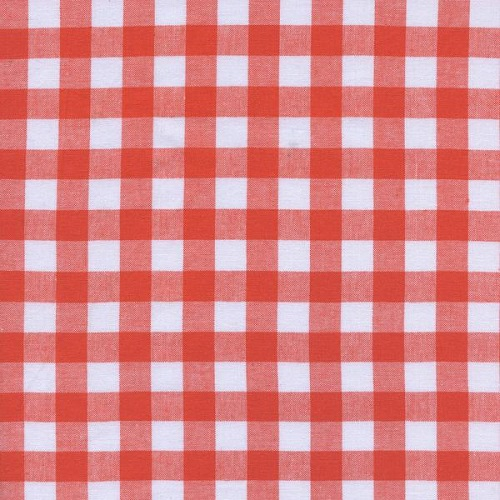 Cotton + Steel - Checkers Gingham (Coral 1/2)